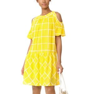 Moon River Gingham Checked Yellow Dress